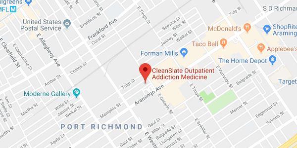 Philadelphia Port Richmond, PA map