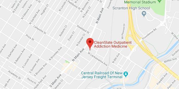 Scranton, PA map